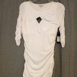 NEW Guess white bodycon top. NWT